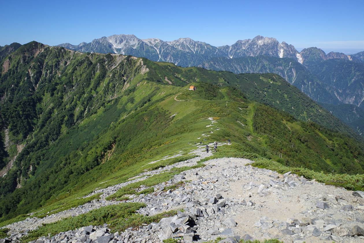 爺ヶ岳から種池山荘へ