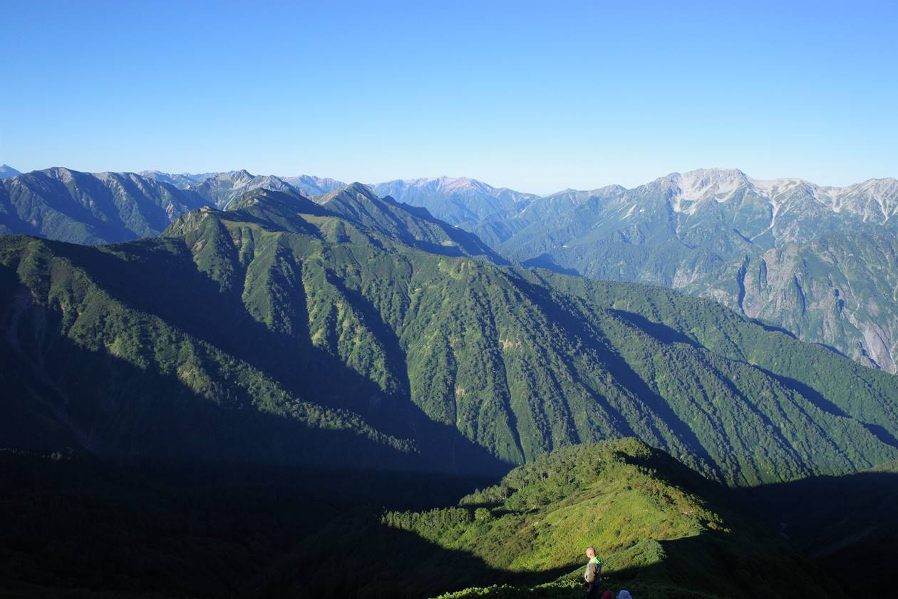 北アルプス・立山~薬師岳~黒部五郎岳~裏銀座の展望