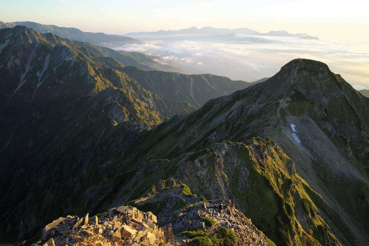 鹿島槍ヶ岳・北峰と八峰キレット