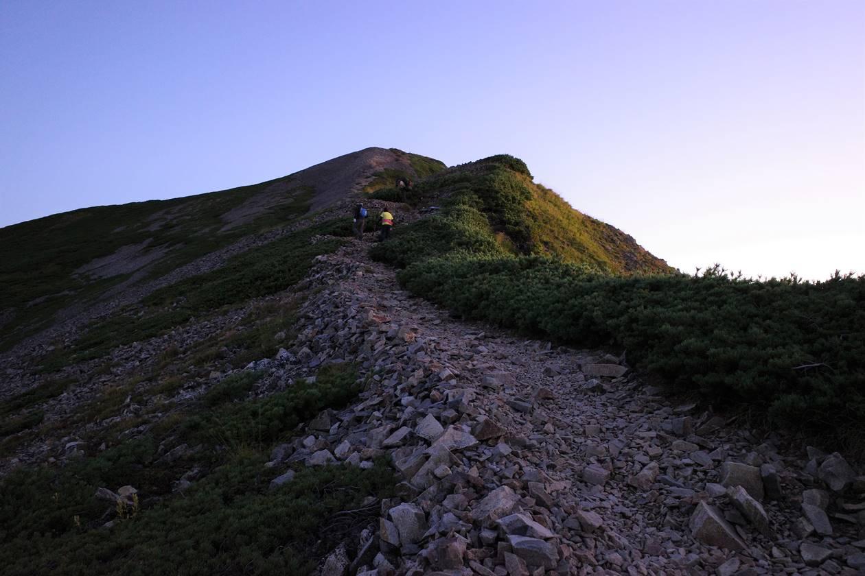 鹿島槍ヶ岳 最後の急登