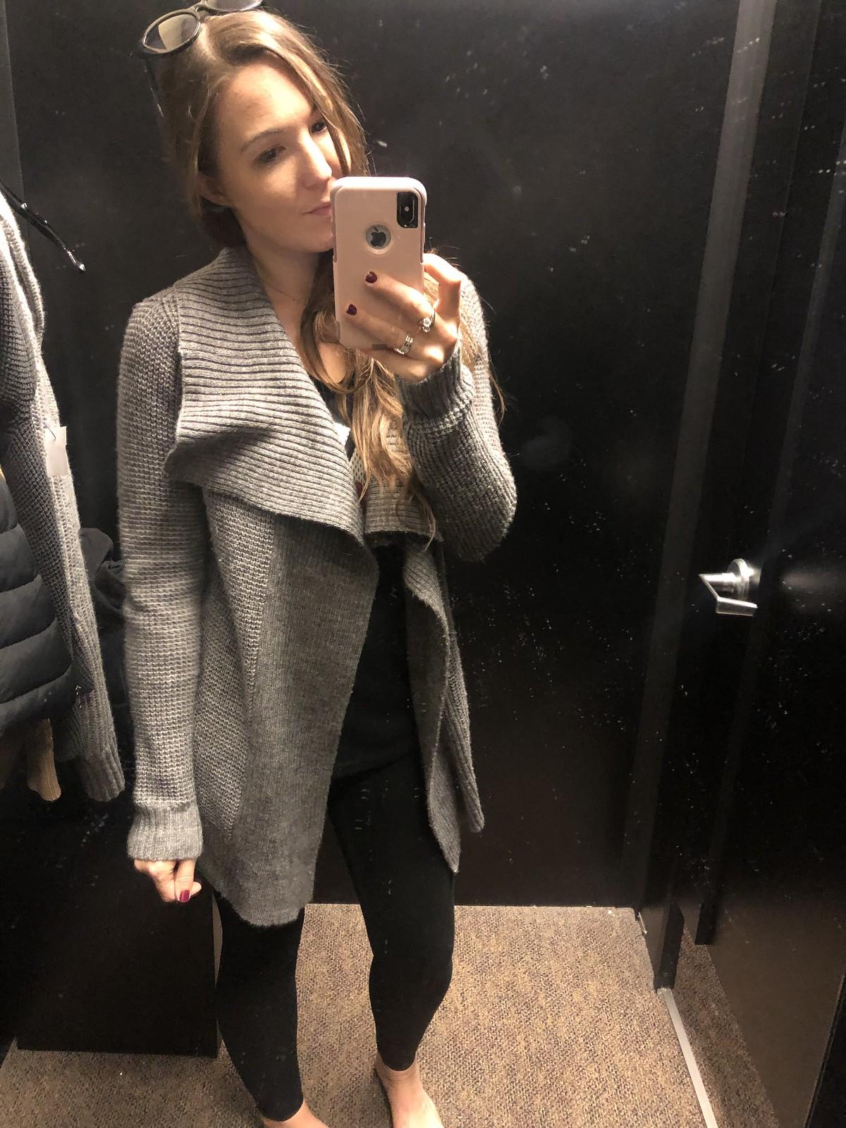 Grey Open Front Michael Kors Cardigan