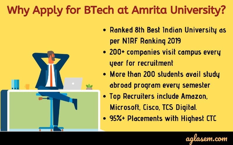 Amrita University announces last date to apply online for B.Tech admission 2020, AEEE 2020