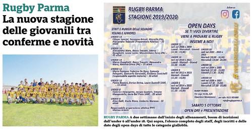 Gazzetta di Parma 18.09.19 - Nuova stagione x sito