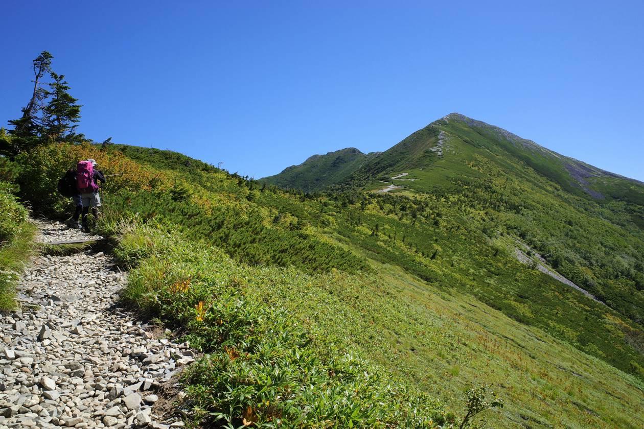 種池山荘からの爺ヶ岳