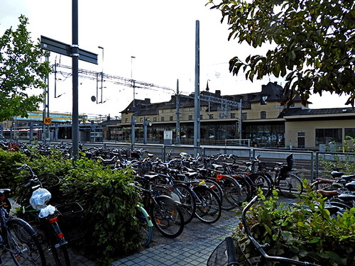 Uppsala central spårsidan