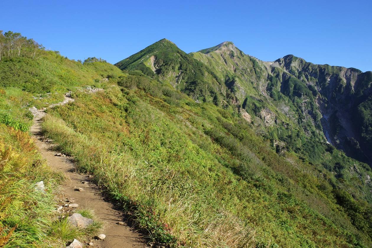布引山と鹿島槍ヶ岳