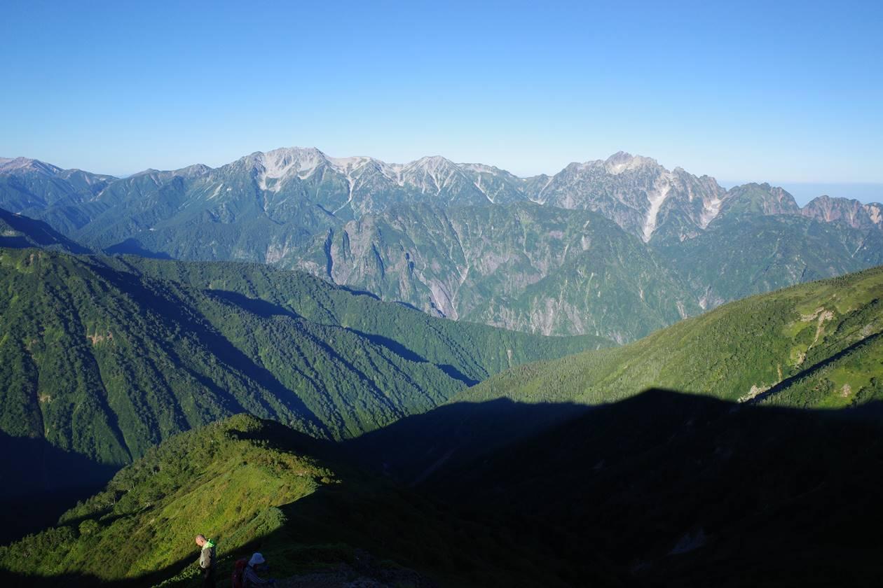 布引山からの立山~剱岳