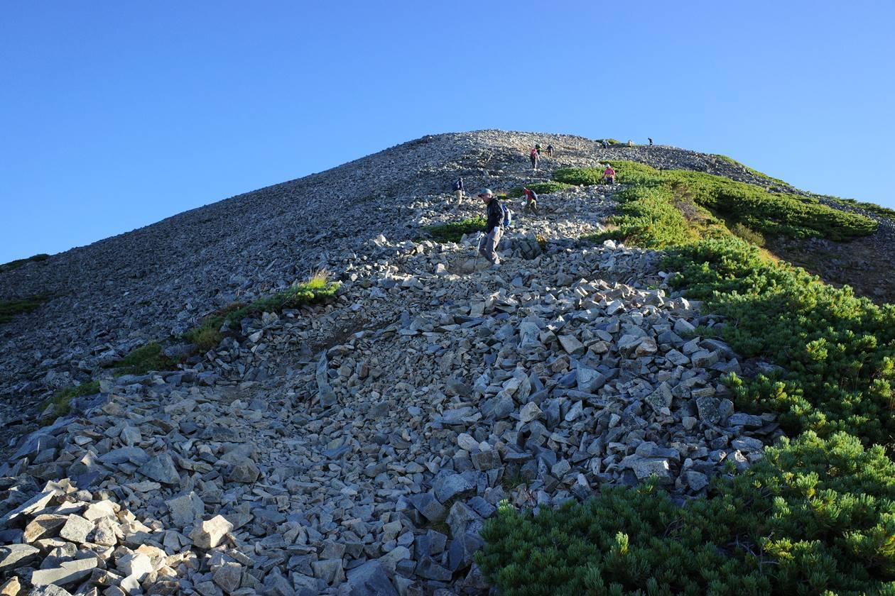 鹿島槍ヶ岳山頂までの急登