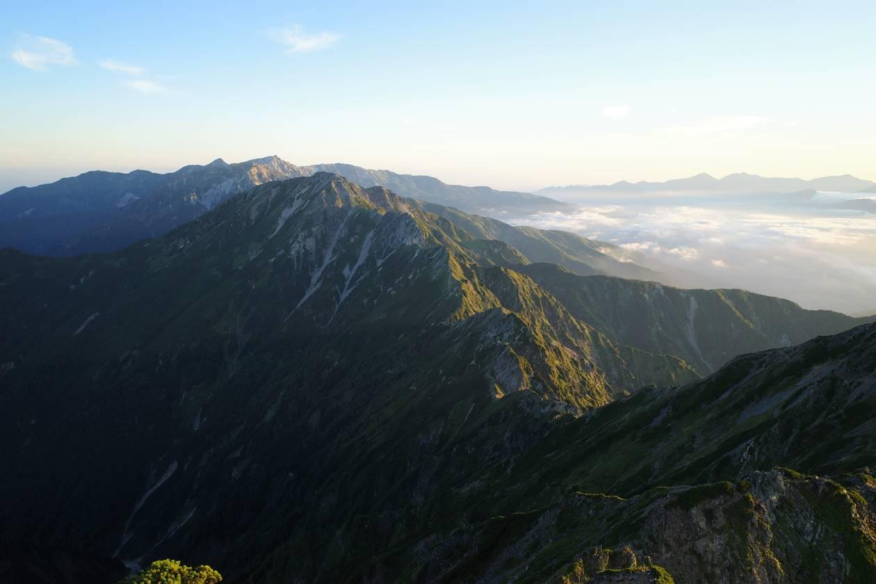 八峰キレット~五竜岳~白馬岳の展望