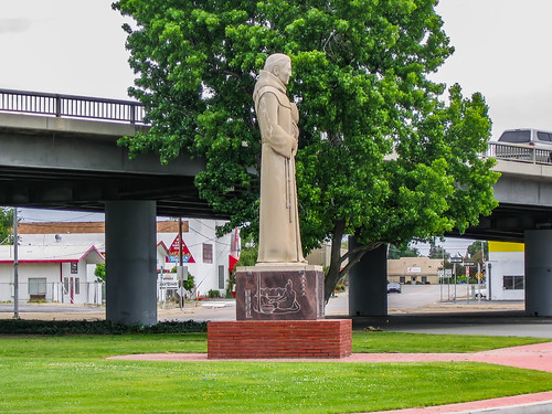 america bakersfield california cloud fathergarces garcescircle historical jfflickr kerncounty overpass photosbydavid plant postedonflickr sign sky statue text tree unitedstates usa unitedstatesofamerica