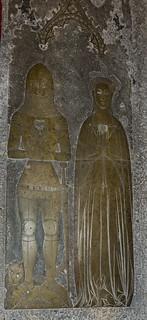 Broughton, St Mary's church brass