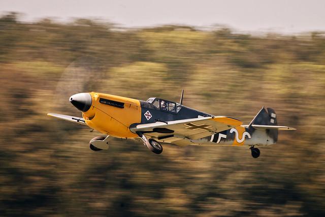 Hispano Aviación HA-1112 Buchón G-AWHH aka Messerschmitt Bf 109F-4 'White 9'