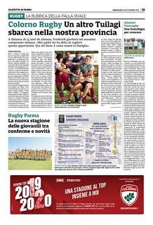 Gazzetta di Parma 18.09.19 - Nuova stagione
