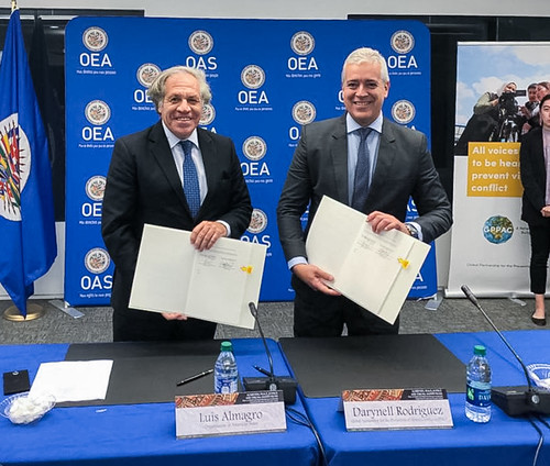 OAS and GPPAC Sign Agreement to Promote Peaceful Coexistence