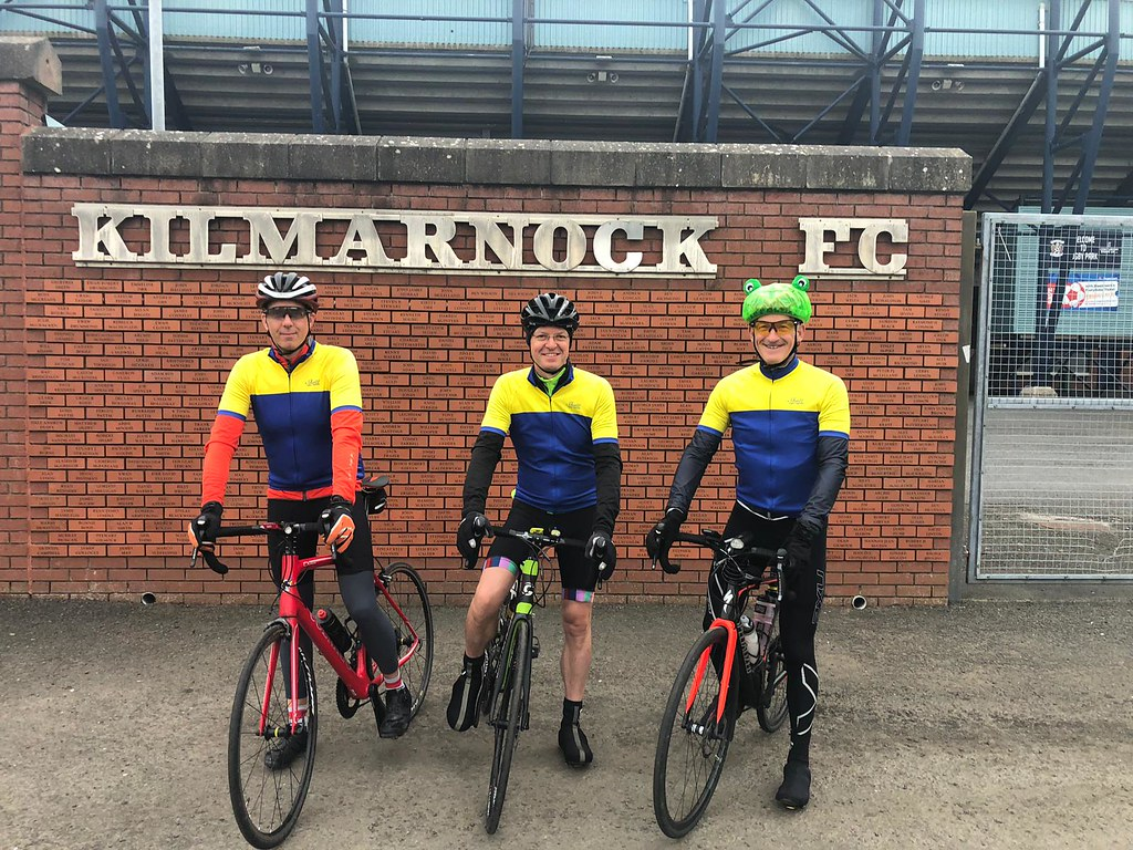 Leaving Kilmarnock Football Club en route to Carlisle