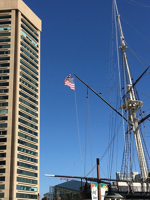 Baltimore MD ~ USS Constellation & flag