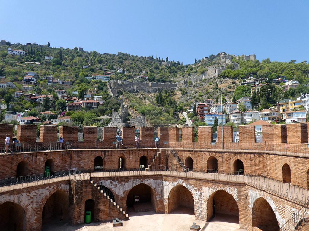 Вид на крепость с верхнего яруса Красной башни