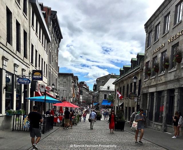 Cobblestone Street of Old Montreal