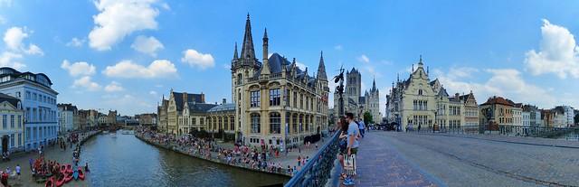 Gent Korenlei, Leie, Graslei, Sint-Michielsbrug & Predikherenlei - Prettig weekend - Have a nice Weekend!