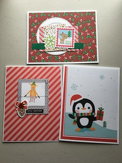 Simple Christmas cards - using up scraps | by jo.blackford