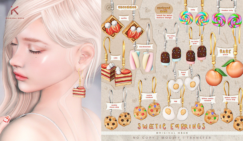 kotte - sweetie earrings gacha @HARAJUKU