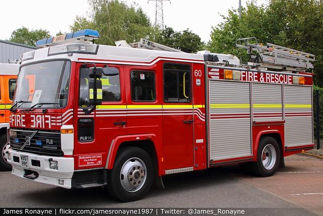 W857 PPC   Volvo FL6 (Saxon)   Bedfordshire Fire & Rescue Service