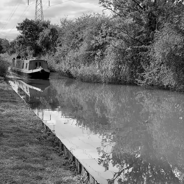 Canal boat near Worcester