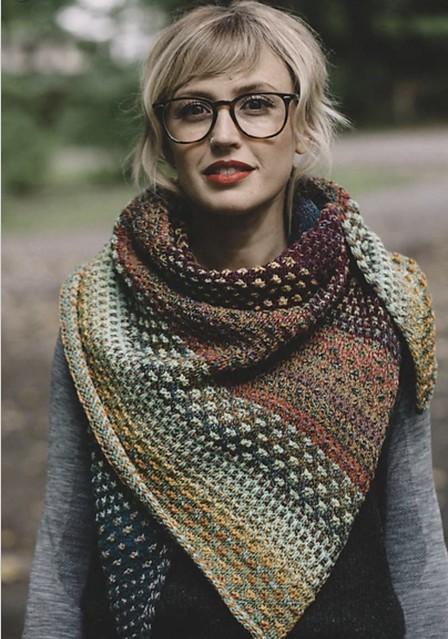 Andrea Mowry's Nightshift mosaic shawl