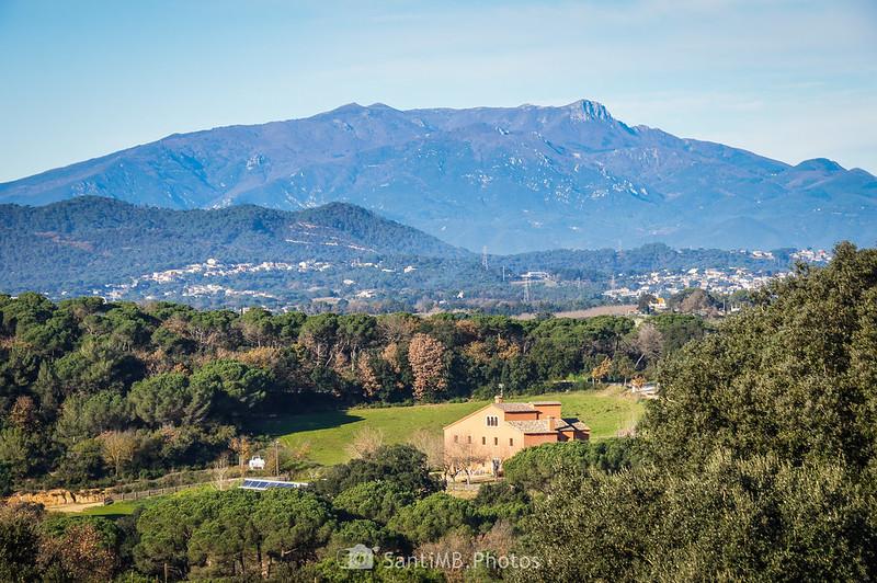 El macizo del Montseny desde Sant Pere de Tordera