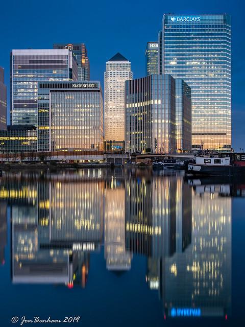 Canary Wharf Dawn Reflections