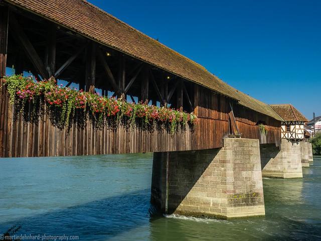 Wooden bridge over the Rhine in Bad Säckingen