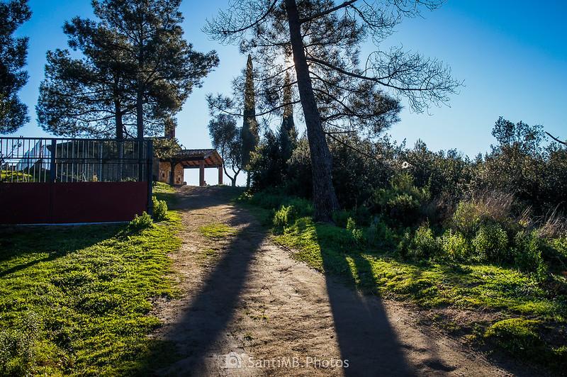 Llegando a la ermita de Sant Pere de Tordera