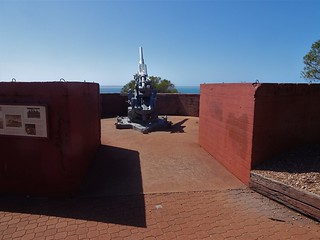 Whyalla. The World War Two fortifications and lookout on Hummock Hill. Overlooking Spencers Gulf.