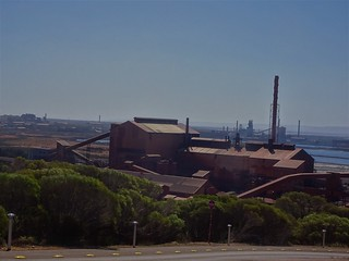 Whyalla. The steel works and old ship building yards from Hummock Hill Lookout. Now owned by Sanjeev Gupta of England.