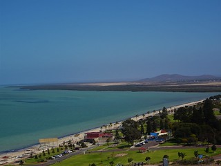 Whyalla. City beach from Hummock Hill Lookout. Sited on Spencers Gulf South Australia.