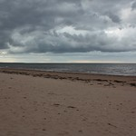 15. September 2019 - 18:08 - Ominous looking clouds minutes before it started raining in Brackley Beach, Prince Edward Island, Canada.