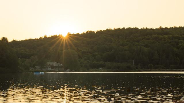 Coucher de soleil, sunset - Montpellier, P.Q., Canada - 4111