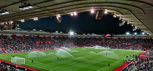 St Mary's Stadium at Night