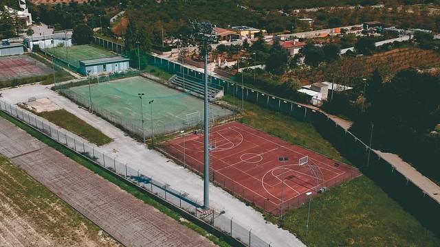 Il campo sportivo a maggio 2019
