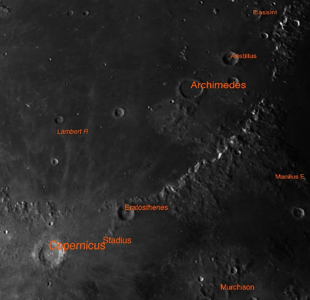 Crater labels for the upper right quadrant of my 9-20-2019 moon photo (From - Moon Atlas 3D Android app)
