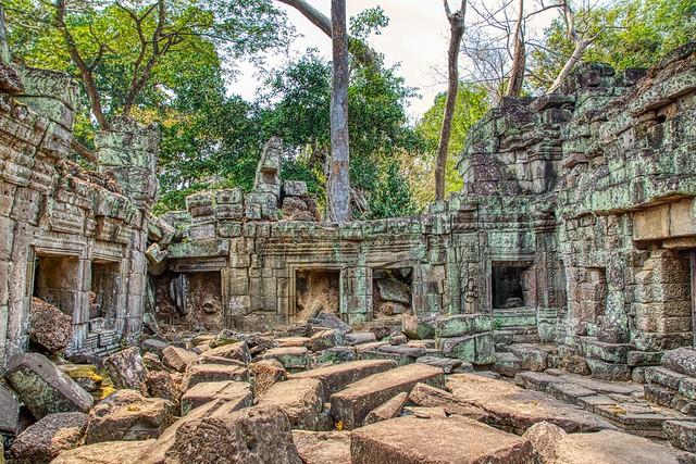 Temple ruins of Preah Khan near Siem Reap, Cambodia