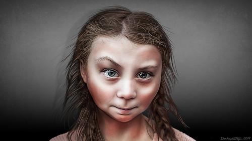 Greta Thunberg - Caricature