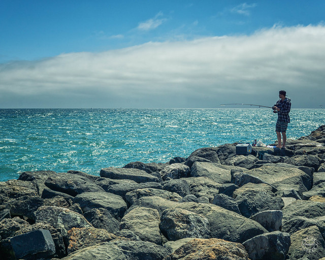 Lone Fisherman on the jetty