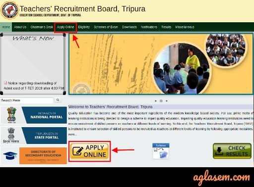 T-TET apply online button