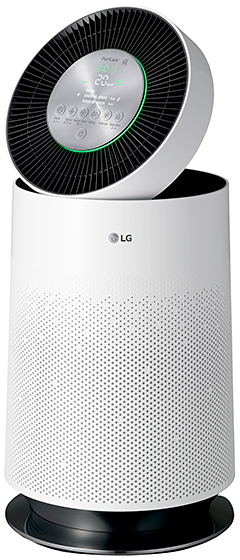 Users can control the LG PuriCare Air Purifier remotely via their mobile devices through an app.