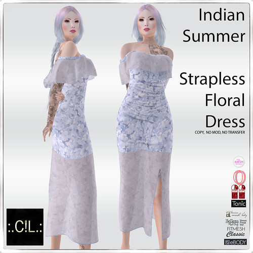 :.C!L.: Indian Summer Strapless Dress Set Poster