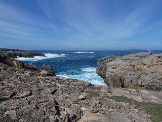 Whalers Way rocky coastline south of Port Lincoln, Eyre Peninsula South Australia