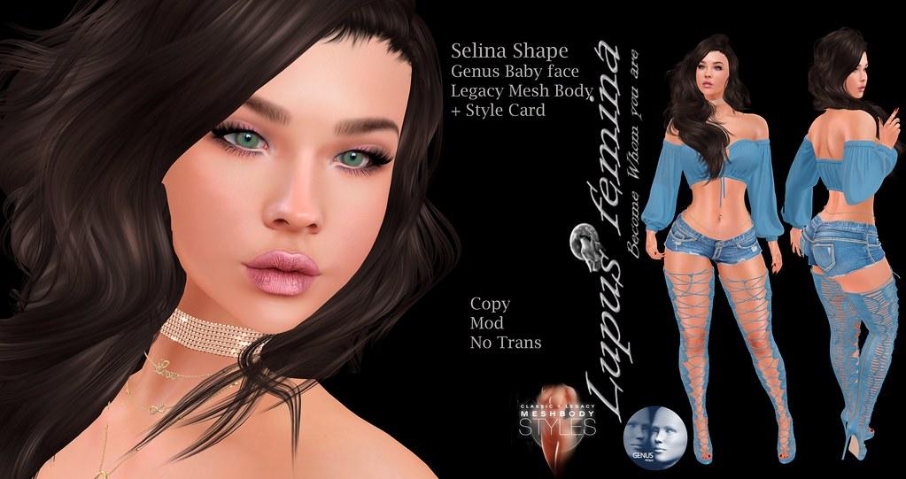 """Lupus Femina"" Selina Shape – Genus Baby face – Legacy B."