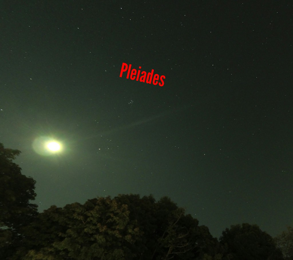 Pleiades 9-21-2019 and the moon