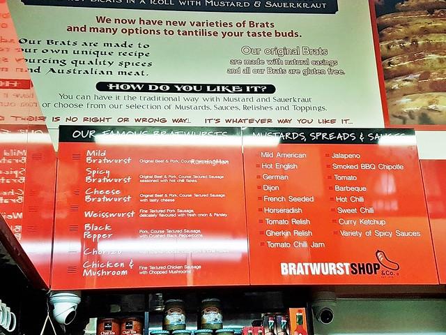 Bratwurst Shop & Co Menu Options